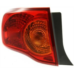 Tail Light For 2009 2010 Toyota Corolla Lh Outer Body Mounted