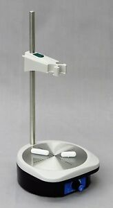 Compact Magnetic Stirrer With Rod Clamp Stir Bar Analog Dial 2200 Rpm