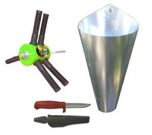 Chicken Plucker Large Killing Cone swedish Knife home Processing Kit