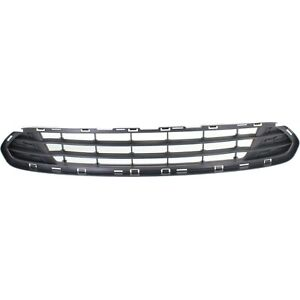Bumper Grille For 2010 2012 Ford Fusion Center Textured Gray Plastic Capa