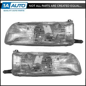Headlights Headlamps Pair Set Left Lh Right Rh For 91 93 Toyota Previa