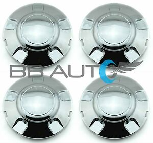 1997 2003 Ford Expedition Chrome Wheel Hub Center Caps Set New