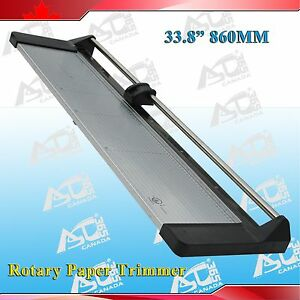 Brand New 33 8in 860mm Rotary Photo Vinyl Paper Cutter Portable Trimmer 1 Blade