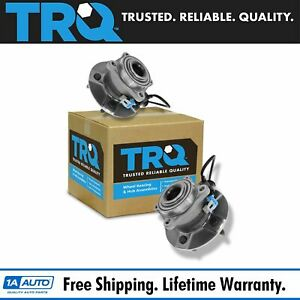 Trq Rear Wheel Hub Bearing Pair Set Of 2 New For Chevy Pontiac Saturn W Abs