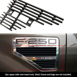 Fits 2008 2010 Ford F250 F350 F450 F550 Black Side Vent Grille Grill Insert