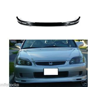 For 96 97 98 Civic 2 3 4 Door Mu Gen Pu Black Add On Front Bumper Lip Spoiler