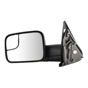 Tow Mirror For 2002 2009 Dodge Ram 1500 Driver Side Power Heat Blind Spot Glass