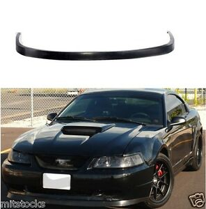 99 04 Ford Mustang Oe Style Pu Black Urethane Front Chin Bumper Lip Spoiler