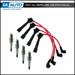 Platinum Spark Plugs And Ignition Wires Kit For 90 93 Mazda Mx 5 Miata