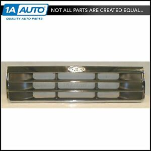 Grille Grill Chrome Dark Silver Front For 91 94 Ford Explorer
