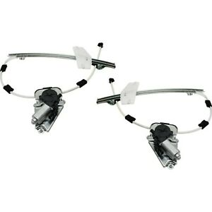 Power Window Regulator For 2002 2006 Jeep Liberty Set Of 2 Front With Motor