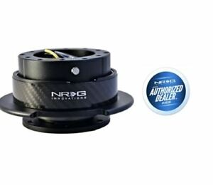 Nrg Steering Wheel Quick Release Gen 2 5 Black With Carbon Fiber Ring
