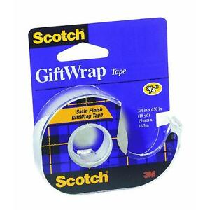 6 Pk 3m 3 4 X 640 Scotch Satin Transparent Gift Wrapping Tape 15