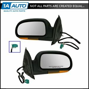 Power Folding Turn Signal Heated Side View Mirrors Pair Set For Chevy Gmc