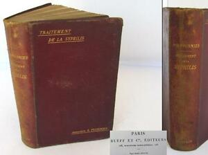 19c Antique French Medical Book Treatment Of Syphilis