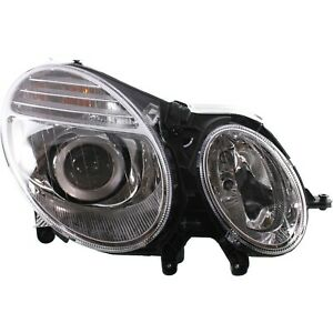 Headlight For 2007 2009 Mercedes Benz E350 E550 Passenger Side W Bulb