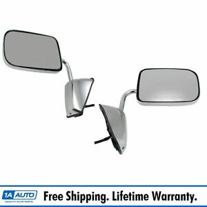 Side View Mirrors Chrome Folding Power Pair Set For 88 93 Dodge Pickup Truck