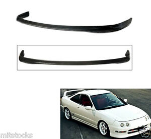 For 94 97 Acura Dc2 Integra 2 4 Door Type R Pu Black Front Bumper Lip Spoiler