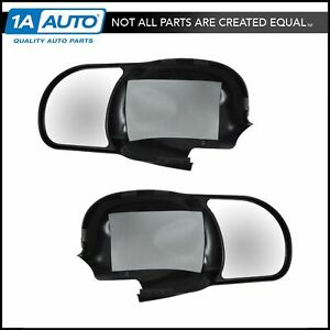 Clip On Mirror Extension Pair Set For Ford F150 F250 Light Duty Pickup Truck Suv