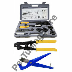 Pex Crimp Tool Kit W Decrimper And Cutter all Sizes 1 2 5 8 3 4 1