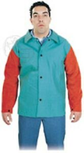 Steel Grip Welding Jacket With Leather Sleeves Small