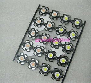 10pcs 3w High Power Led Emitter Pink Color With 20mm Star Pcb 45mil Chip For Diy