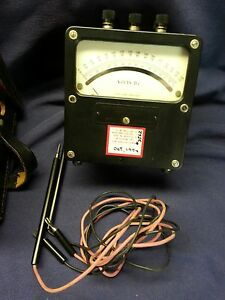 Volt Meter Western Electric Model 9310p 0 150 Volts D c Tested Working