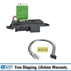 Front Heater Blower Motor Resistor W Plug Pigtail For Chevy Gmc Pickup Truck