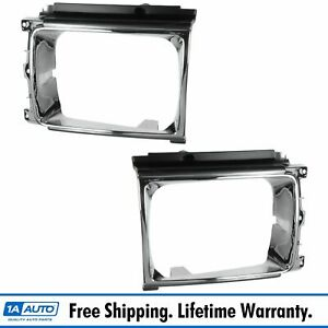 Headlamp Headlight Bezel Trim Left right Pair For Toyota