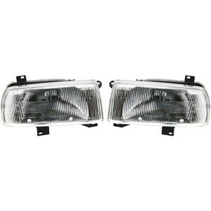 Headlight Set For 93 94 95 96 97 98 99 Volkswagen Jetta Left And Right 2pc