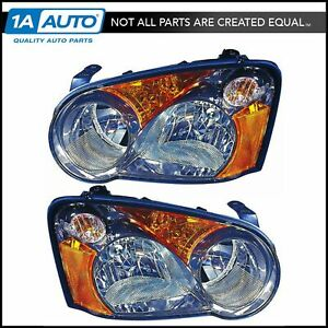 Headlight Headlamp Light Lamp Pair Set Of 2 Left Lh Right Rh For 04 Impreza