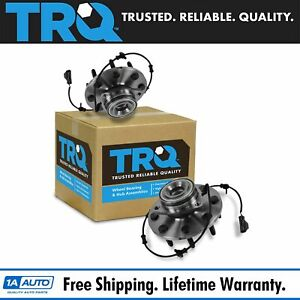 Trq Front Wheel Bearing Hub Assembly Pair Set For Dodge Ram Pickup 2500 3500 2wd