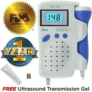 Fetal Doppler Jpd 100b 3mhz Probe Rechargeable Battery Charger
