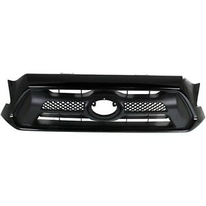 Grille For 2012 2015 Toyota Tacoma Black Plastic