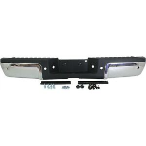 Step Bumper For 2008 2016 F 250 Sd With Sensor Holes Chrome Face Black Pad Rear