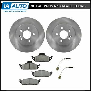 Front Metallic Brake Pads Set 2 Discs Rotors Kit For Ml320 Ml350 Ml430