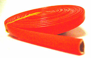 Dayglo Orange Heat Protector Silicone Spark Plug Wire Sleeve 25 Made In Usa