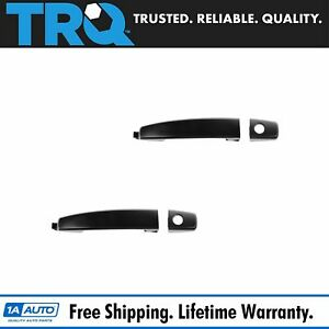 Door Handle With Keyhole Black Front Outer Pair Set For Aveo Captiva Sport Vue