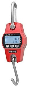 Digital Hanging Crane Scale 300 Kg 600 Lbs Industrial Crane Scale Lcd Display