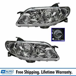Front Headlights Aluminum Bezel Set Pair For 02 03 Protege5 Protege Hatchback