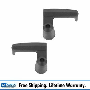 Black Vent Window Handles Left Right Pair Set For Ford Pickup Trucks Vans