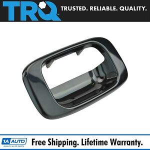 Smooth Black Tailgate Handle Bezel For 99 07 Chevy Silverado Gmc Sierra