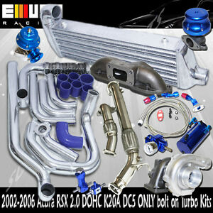 Complete Turbo Kit Intercooler Kits Manifold Downpipe For Acura Rsx Dc5 K20