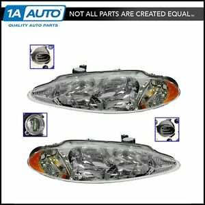 Headlights Headlamps Left Right Pair Set New For 98 04 Dodge Intrepid