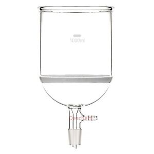 1000ml 24 29 glass Buchner Funnel 1l w 3 Coarse Filter vacuum Hose Connection