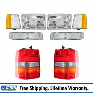 Headlights Parking Corner Lights Taillights Set Kit For 93 96 Grand Cherokee