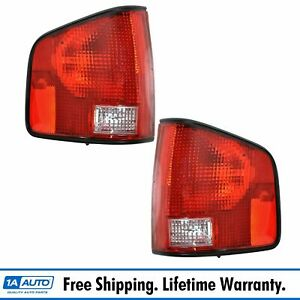 Rear Taillights Taillamps Lamps Pair Set For 94 04 Hombre S10 S 15 Pickup Truck