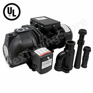 1 Hp Convertible Shallow Or Deep Well Jet Pump W Pressure Switch 115 230v Ul