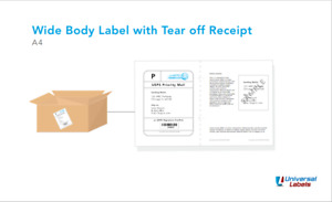 1500 Shipping Labels With Tear Off Receipt Online Postage Solution Usa Made