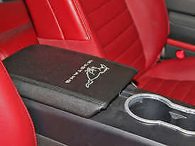 2005 2009 Ford Mustang Center Console Arm Rest Pad Cover Black W Running Horse